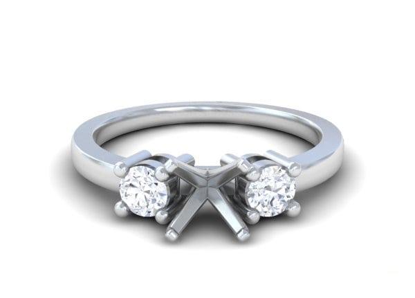 Classic Three Stone Diamond Rings - R10694DM