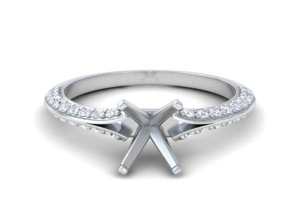 Men's Metal Diamond Rings - R11357DM
