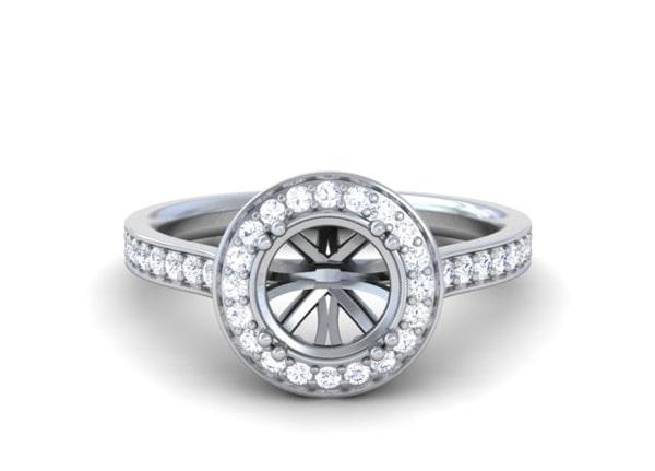 Halo Diamond Rings - R11779DM
