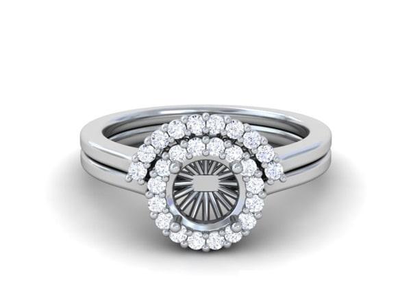 Wedding Set Diamond Rings - R11329DM