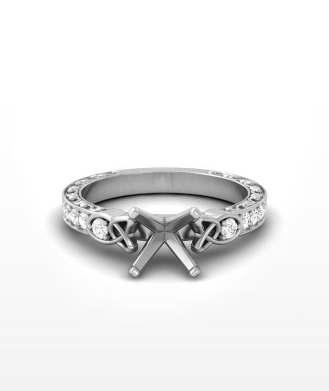 Emerald Celtic Ring