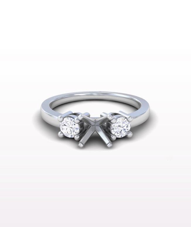 Emerald Classic Three Stone Ring
