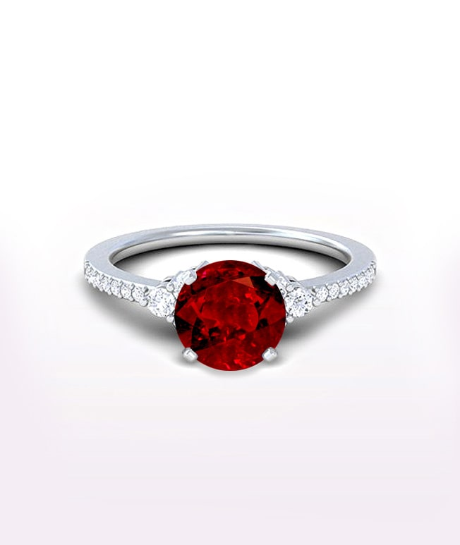 Ruby Side Stone RIngs