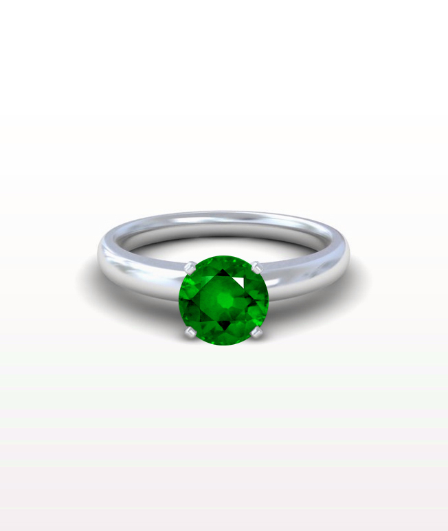 Emerald Traditional Solitaire Ring