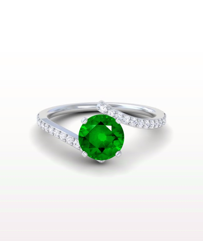 Emerald Bypass Rings