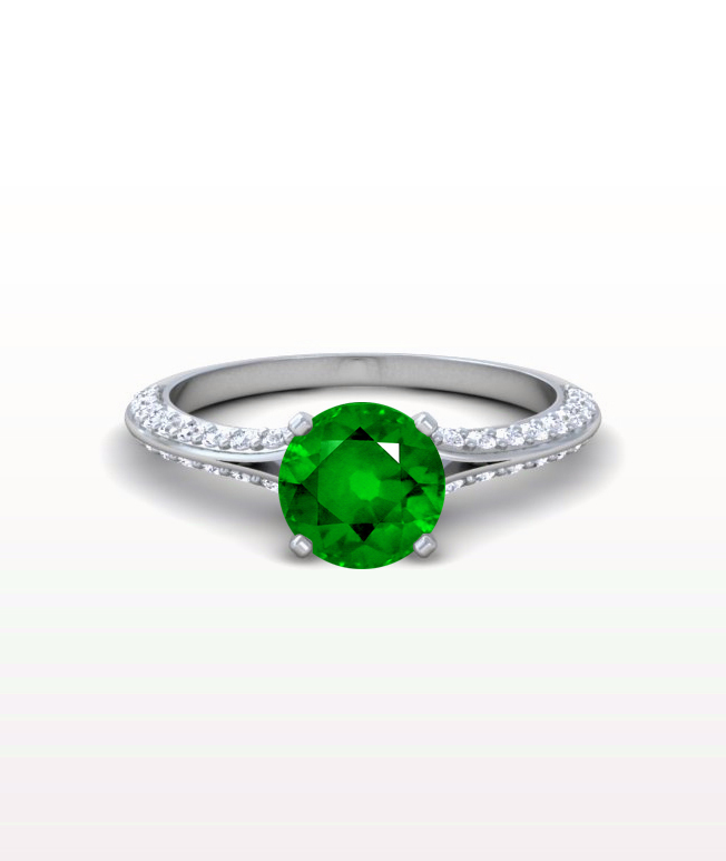 Emerald Split Shank Rings