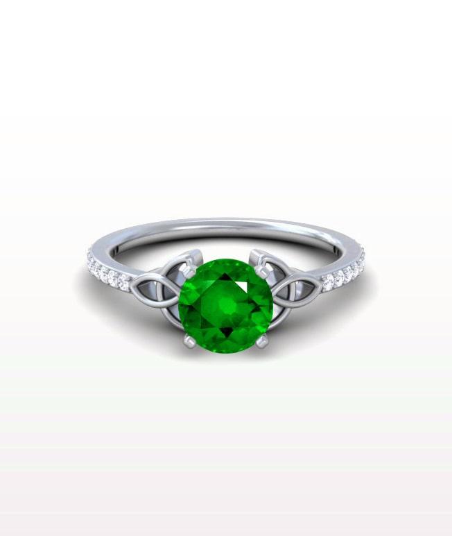 Emerald Celtic Rings