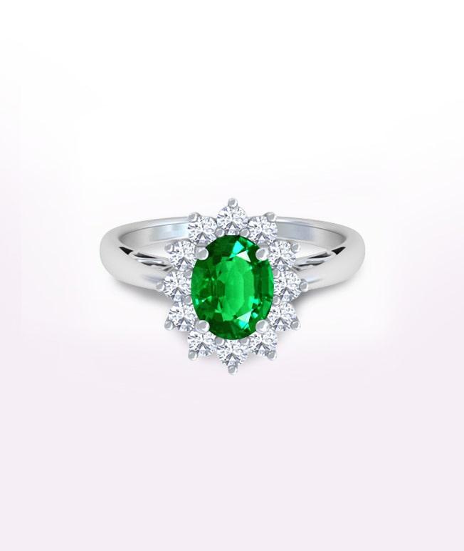 Emerald Princess Diana Rings