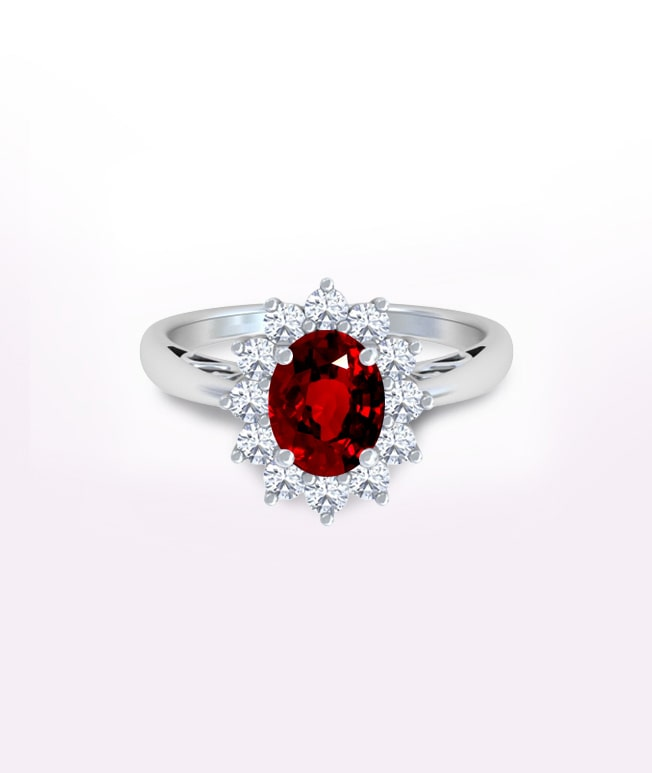 Ruby Princess Diana Rings