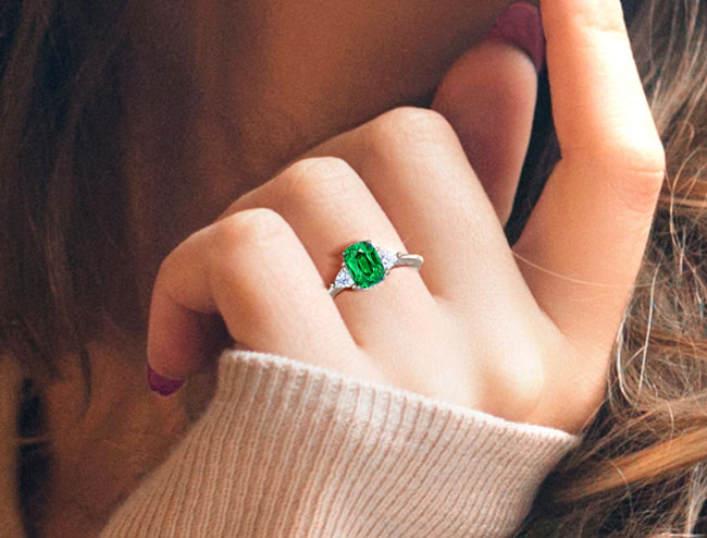 Tsavorite Rings