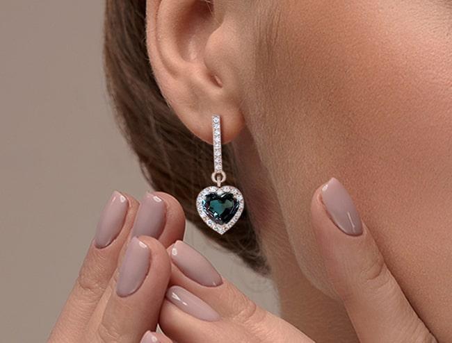 GemsNY Alexandrites Earrings Jewelry