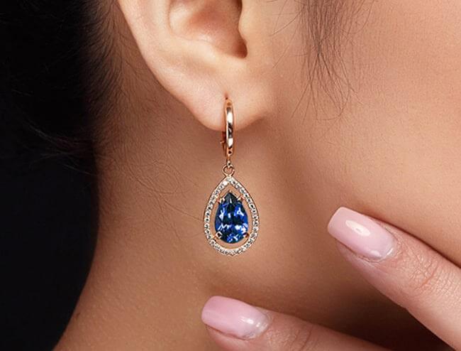 GemsNY Sapphire Earrings
