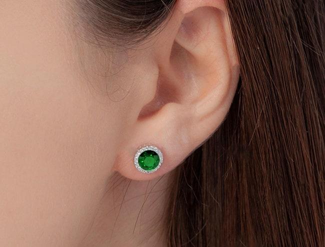GemsNY Emerald Earrings Jewelry