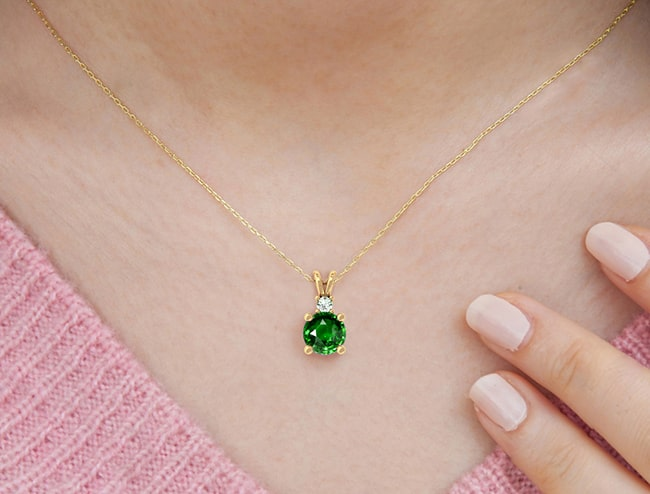GemsNY Emerald Pendants Jewelry