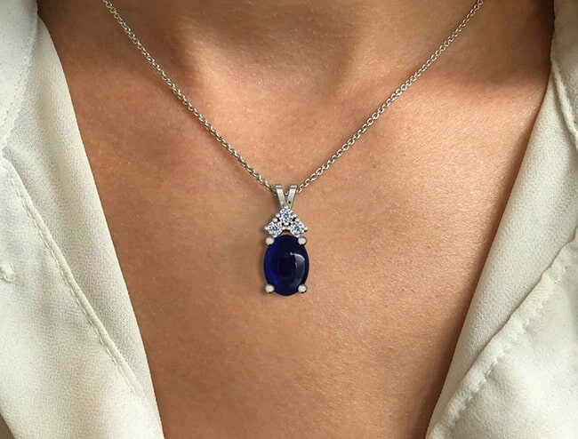 GemsNY Sapphire Pendants