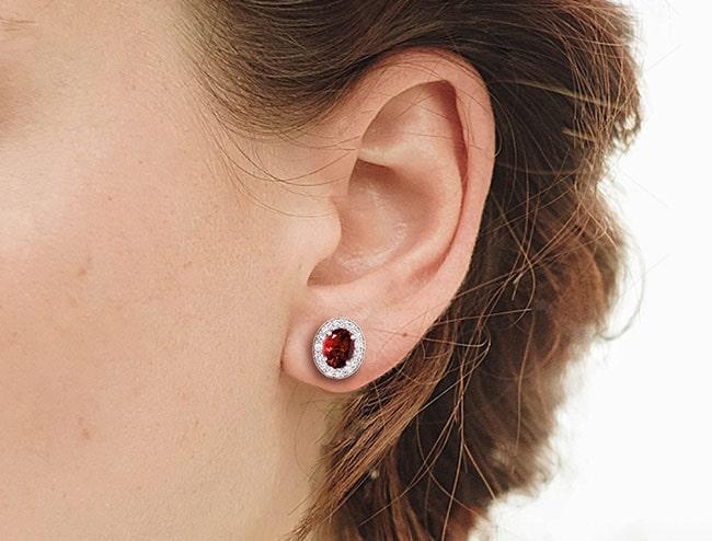 GemsNY Ruby Earrings Jewelry