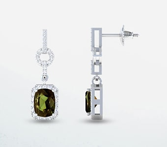 GemsNY Alexandrite Dangle Earrings