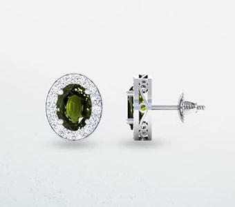 GemsNY Alexandrite Side Stones Earrings