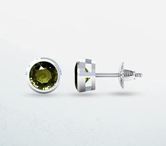 GemsNY Alexandrite Solitiare Earrings