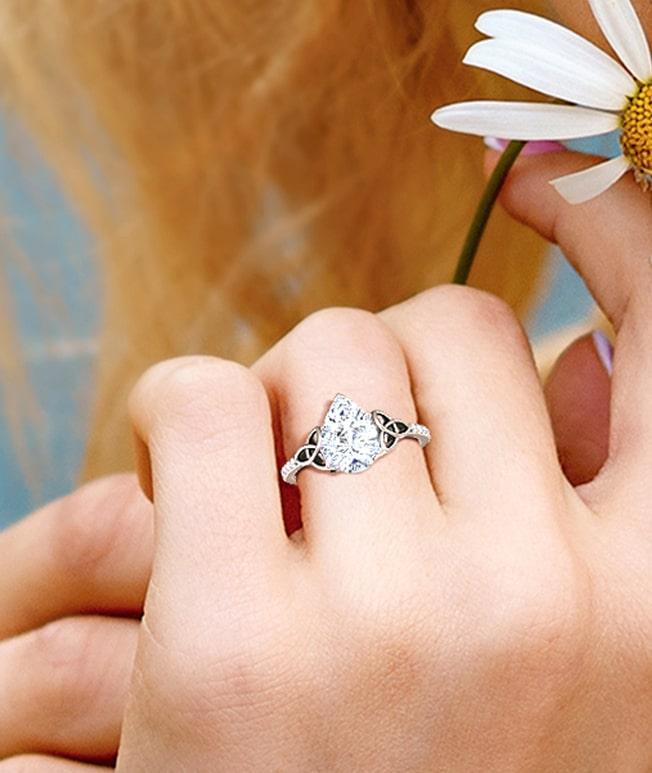 GemsNY Diamond Celtic Rings