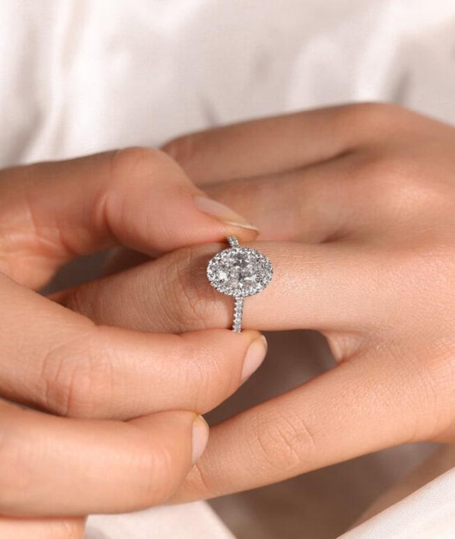 GemsNY Diamond Halo Rings