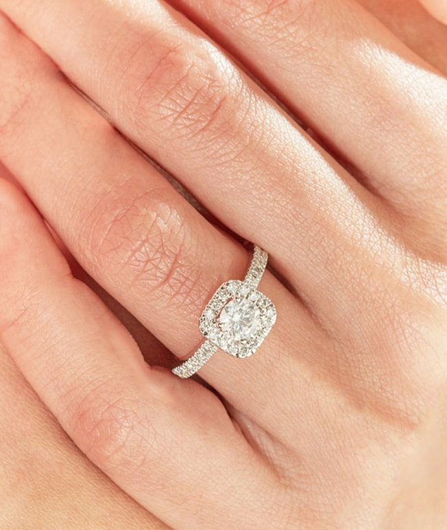 GemsNY Diamond Side Stones Rings