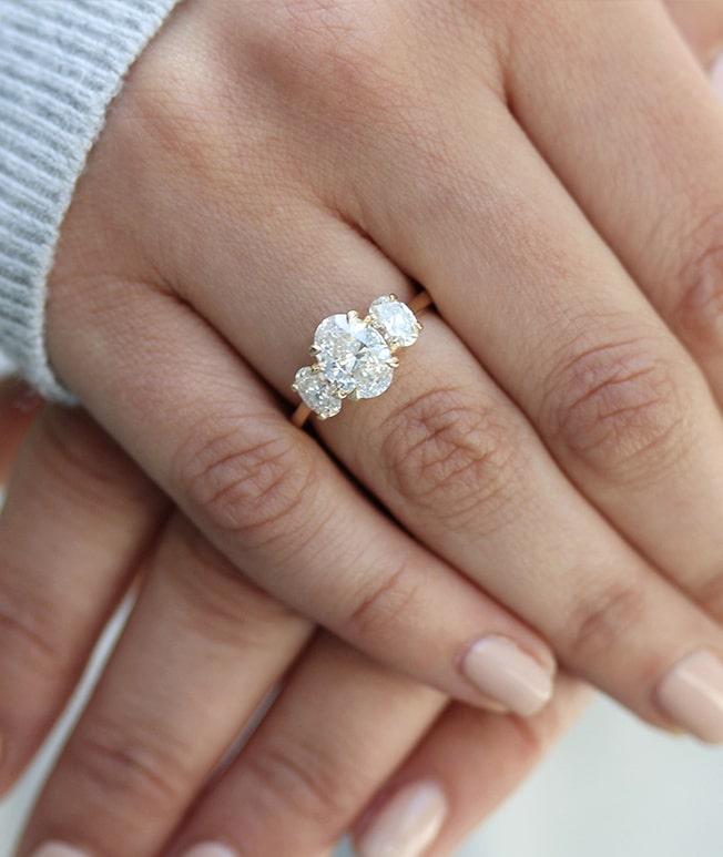 GemsNY Diamond Three Stone Rings