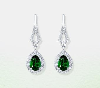 GemsNY Emerald Dangle Earrings