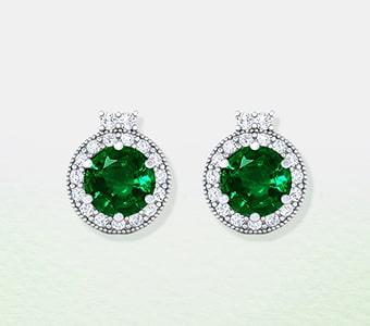 GemsNY Emerald Designer Earrings