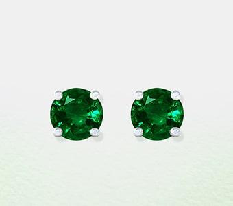 GemsNY Emerald Solitiare Earrings