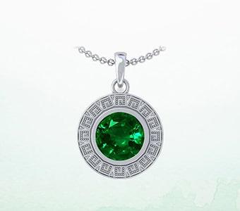 GemsNY Emerald Astrological Pendants