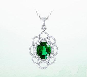 GemsNY Emerald Designer Pendants