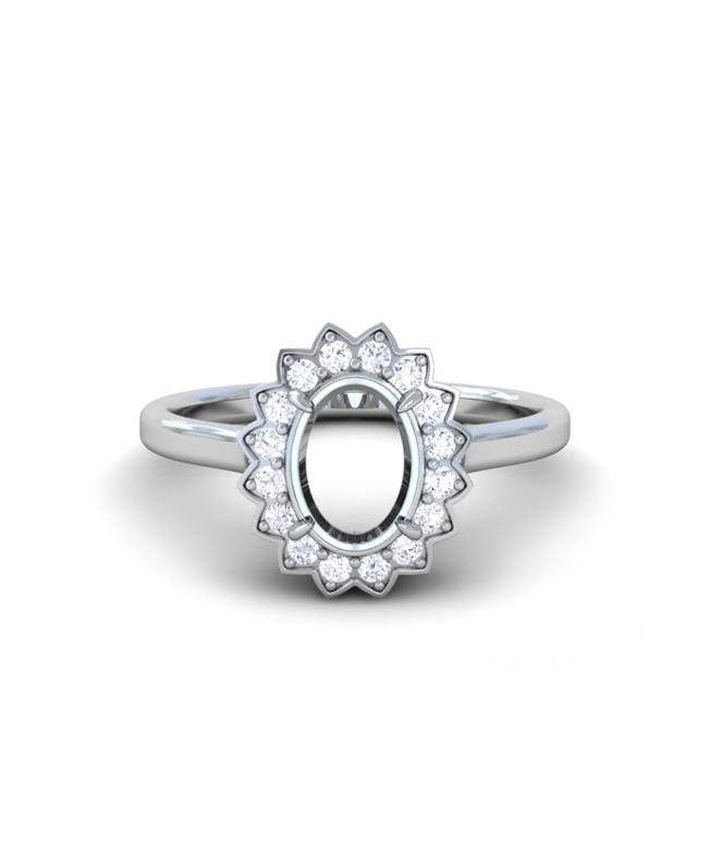 Emerald Halo Rings