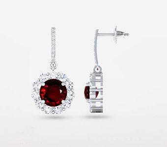 GemsNY Ruby Dangle Earrings