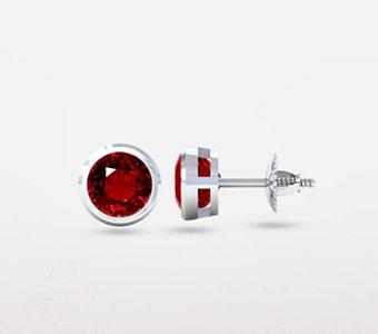 GemsNY Ruby Solitiare Earrings