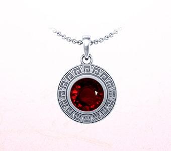GemsNY Ruby Astrological Pendants