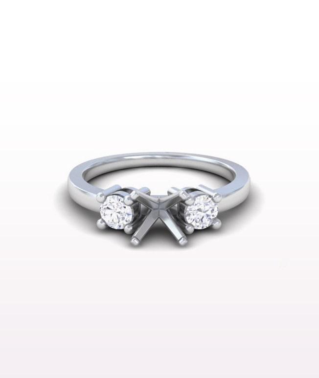 Ruby Classic Three Stone Rings