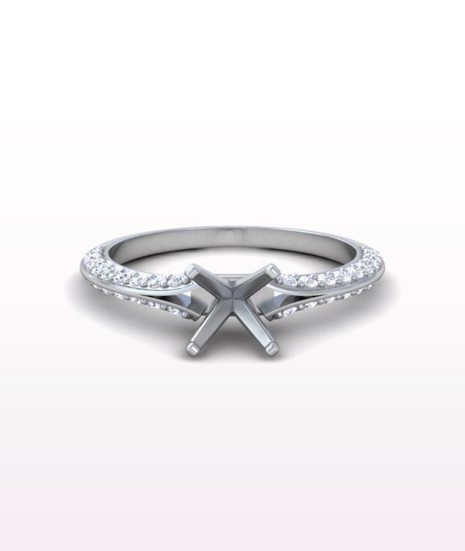 Ruby Split Shank Rings