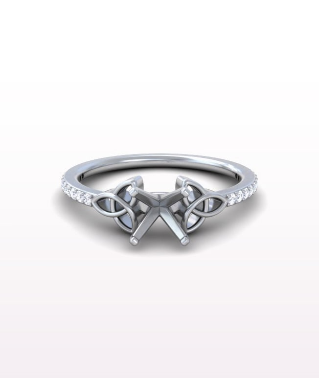 Ruby Celtic Rings