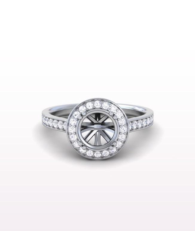 Ruby MYO Halo Rings
