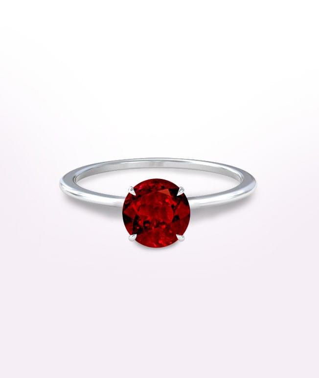 Ruby Solitaure Ring