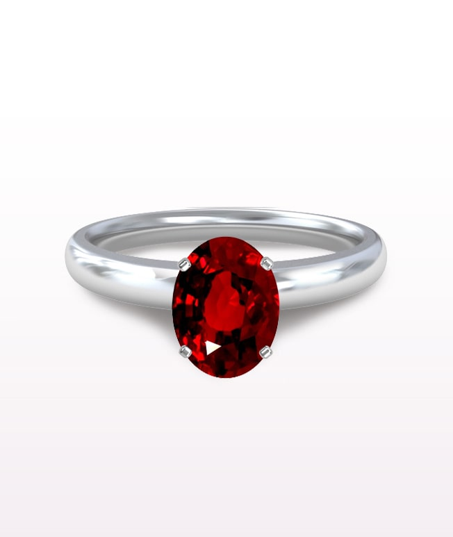 Ruby Traditional Solitaire Ring