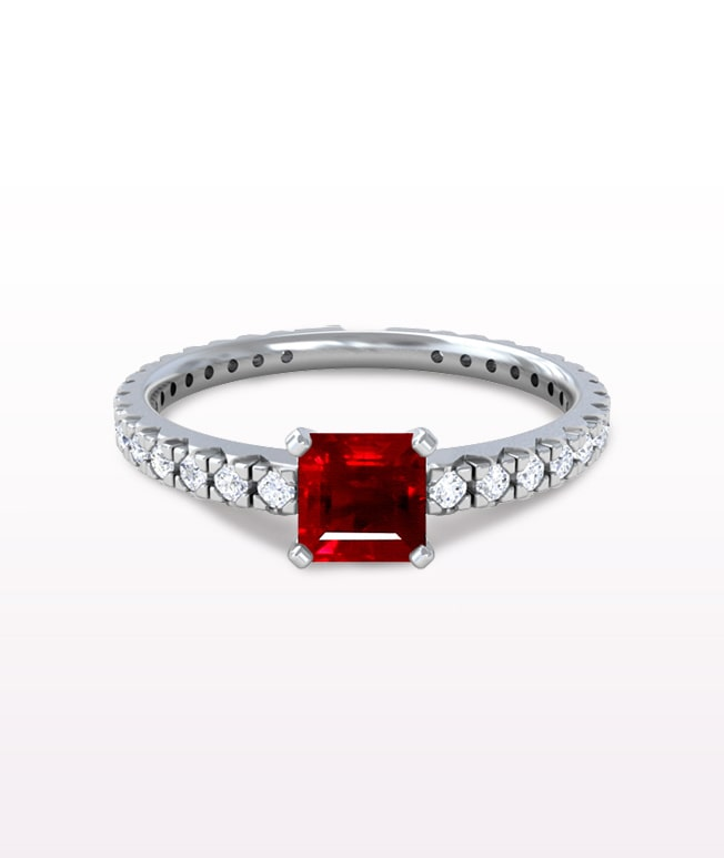 Ruby Classic Pave Rings