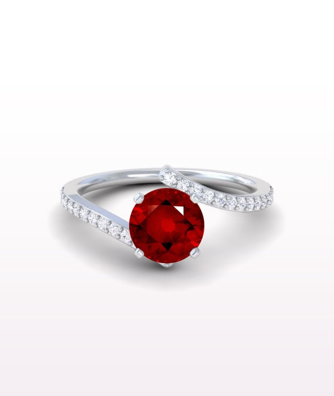Ruby Bypass Ring