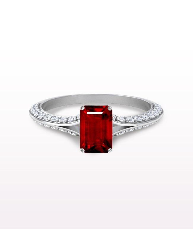 Ruby Split Shank Ring