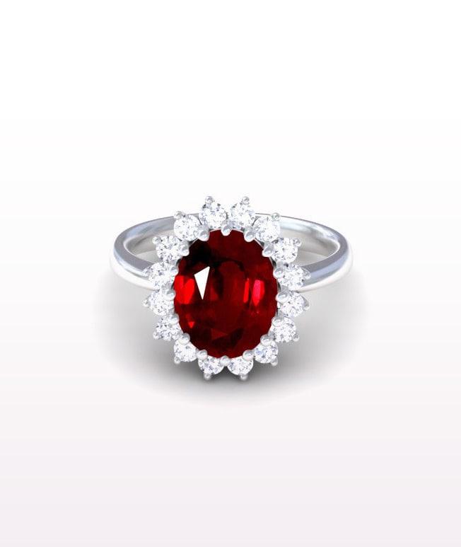 Ruby Princess Diana Replica Ring