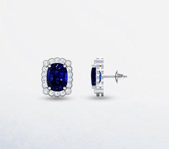 GemsNY Designer Solitiare Earrings