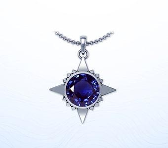 GemsNY Sapphire Astrological Pendants