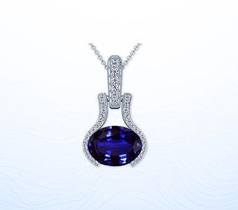 GemsNY Sapphire Designer Pendants