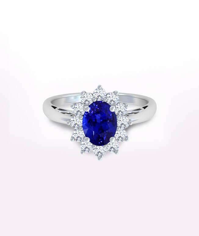 Halo Sapphire Rings
